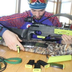 Cody Johnson, 19, of Fort Kent, seen here training at the Fort Kent Outdoor Center, Jan. 6 earned a spot on this year's U.S. Junior Biathlon Team. (Don Eno   SJVT/FhF)