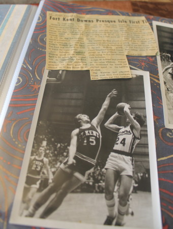 Among Tom Pelletier's favorite clippings from his days on the high school court are clippings from the first time the Fort Kent boys beat Presque Isle. (Don Eno | SJVT/FhF)