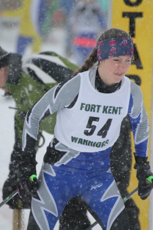 Madawaska's Isabelle Jandreau finished in the top spot at the Aroostook League Championships Nordic skate event, Wednesday, Feb. 15, at the Fort Kent Outdoor Center. (Don Eno | SJVT/FhF)
