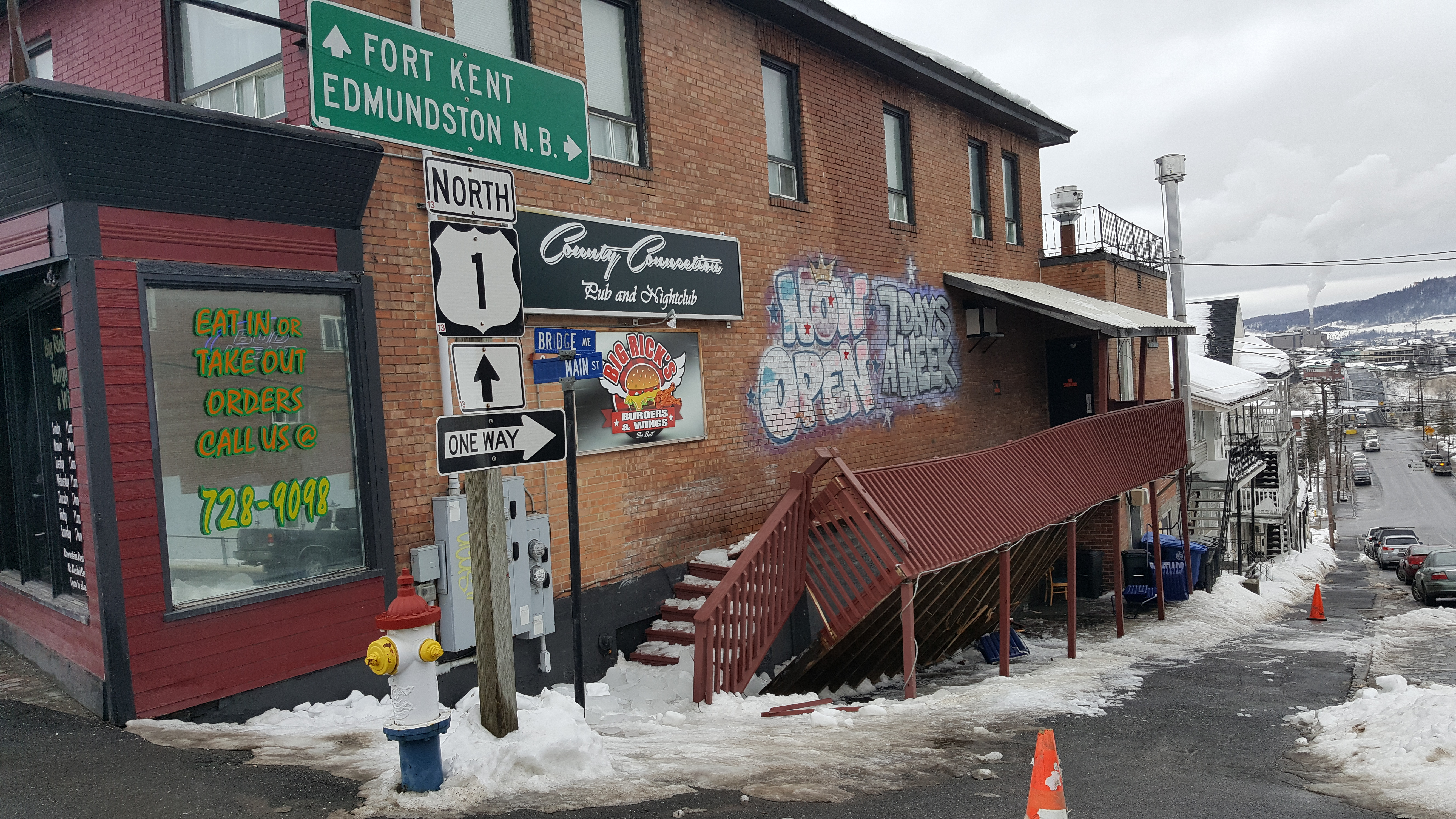 february thaw leads to roof collapse damaged deck fiddlehead focus