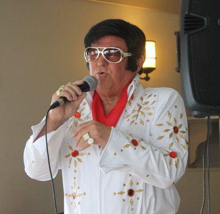 """""""Elvis"""" was among the musical performers at Angel Snowfest, Saturday, March 11, at the Lakeview Restaurant in St. Agatha. (Don Eno 