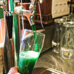 Green beer, a staple at many St. Patrick's Day celebrations, was being served, Friday, March 17, at Walker's Pub in downtown Fort Kent. (Don Eno | SJVT/FhF)