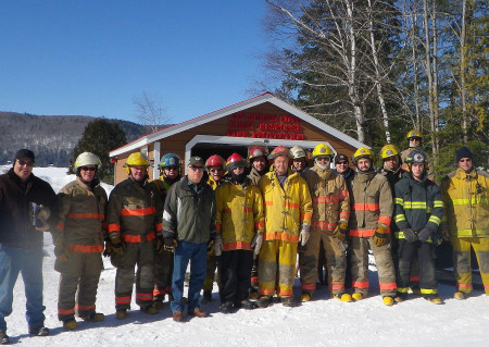 Members of the newly formed Club 17 Brigade trained, Sunday, March 19, with the Van Buren Fire Department regulars at Van Buren Cove on Long Lake. (Contributed photo)