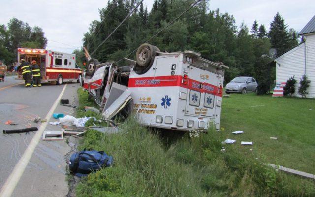 Fort kent ambulance driver falls asleep crashes in for Valley motors fort kent
